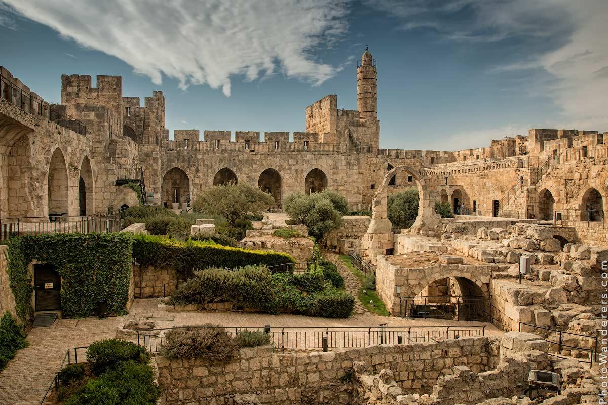 Башня Давида в старинной цитадели (David Tower, Jerusalem Citadel), Старый город Иерусалим, Израиль