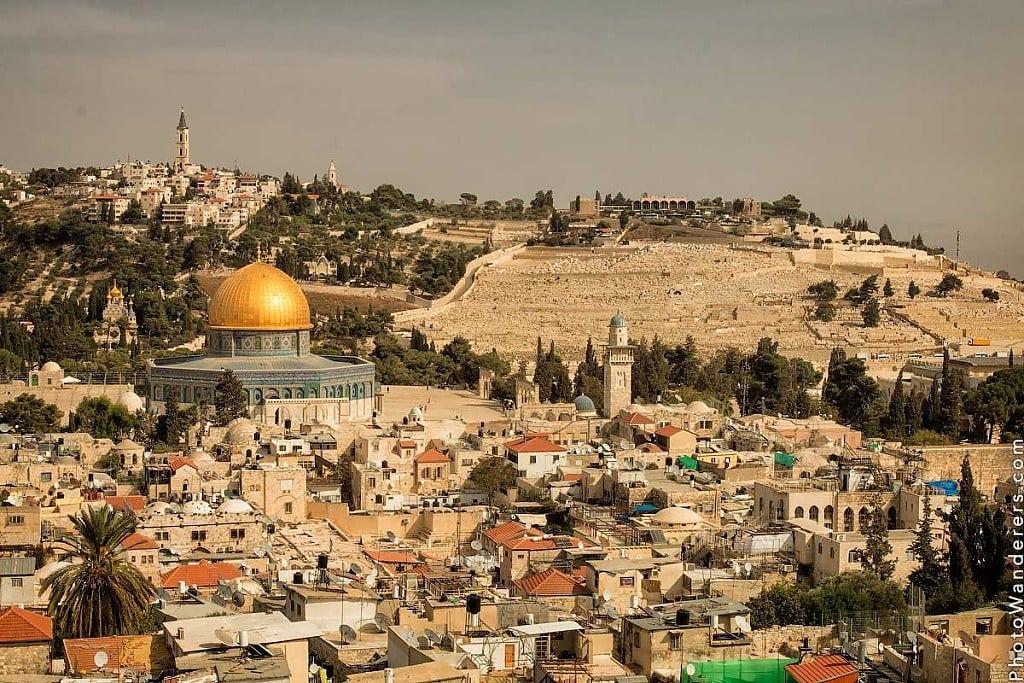 Вид на Иерусалим и Масличную гору (Jerusalem and Mount of Olive View)