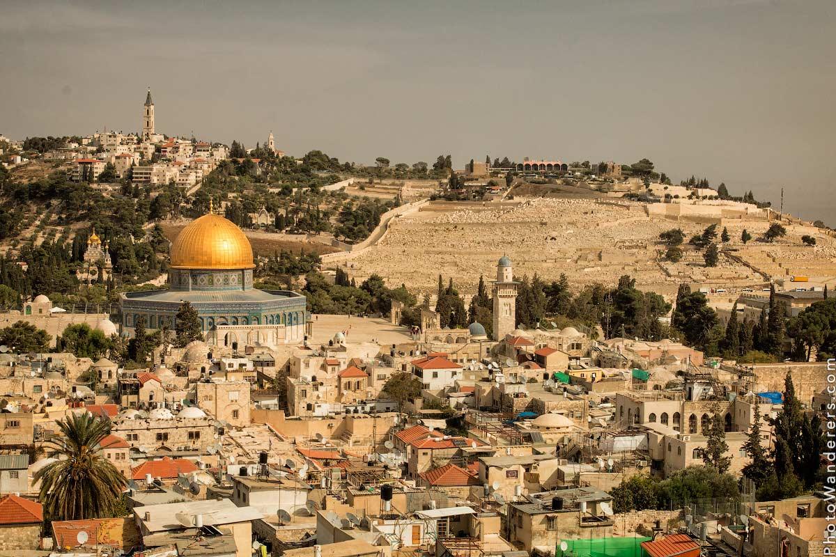 Вид на старый город Иерусалим и Масличную гору (Jerusalem and Mount of Olive View), Израиль