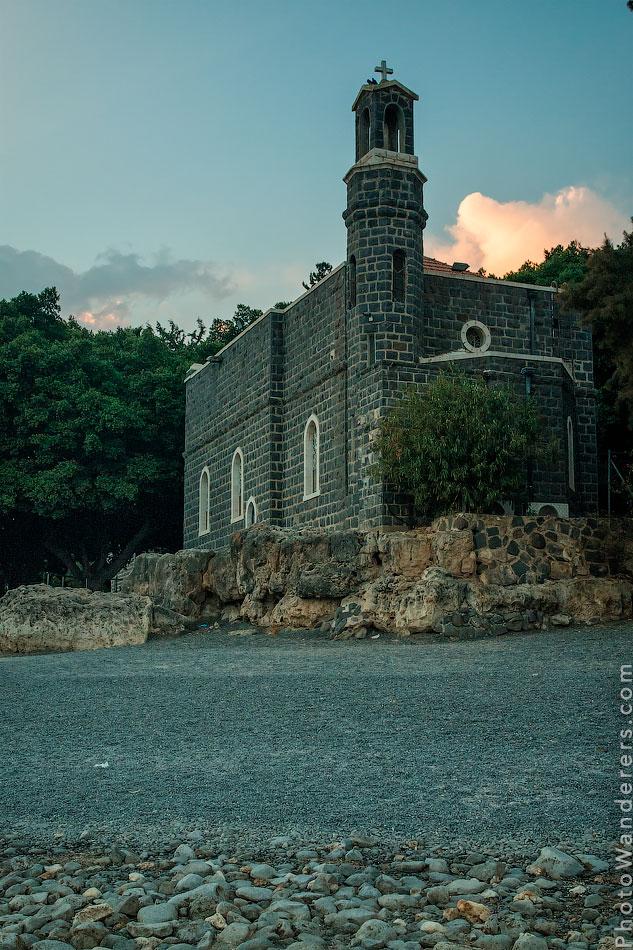 Церковь первенства Апостола Петра (Church of the Primacy of St. Peter), Генисаретское озеро, Путешествие в Израиль
