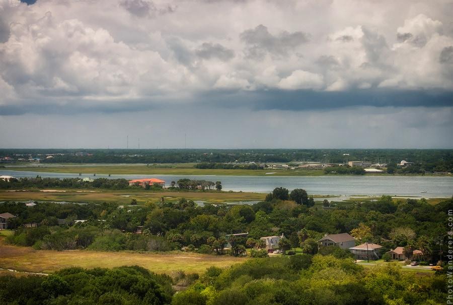 Вид с маяка на реку Матанзас (Matanzas River)