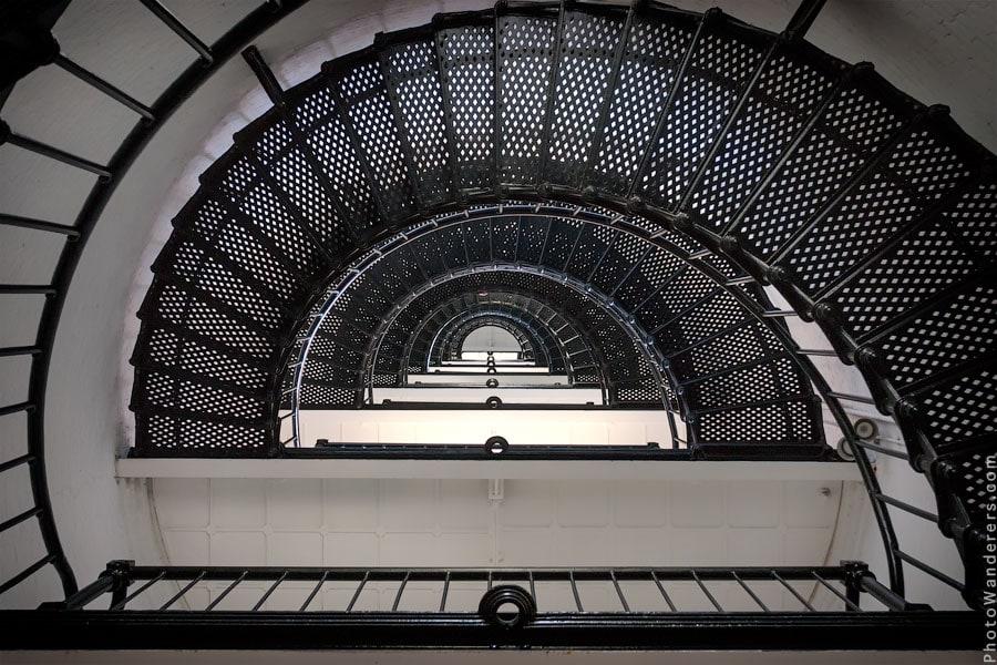Лестница маяка в Сент-Огастин