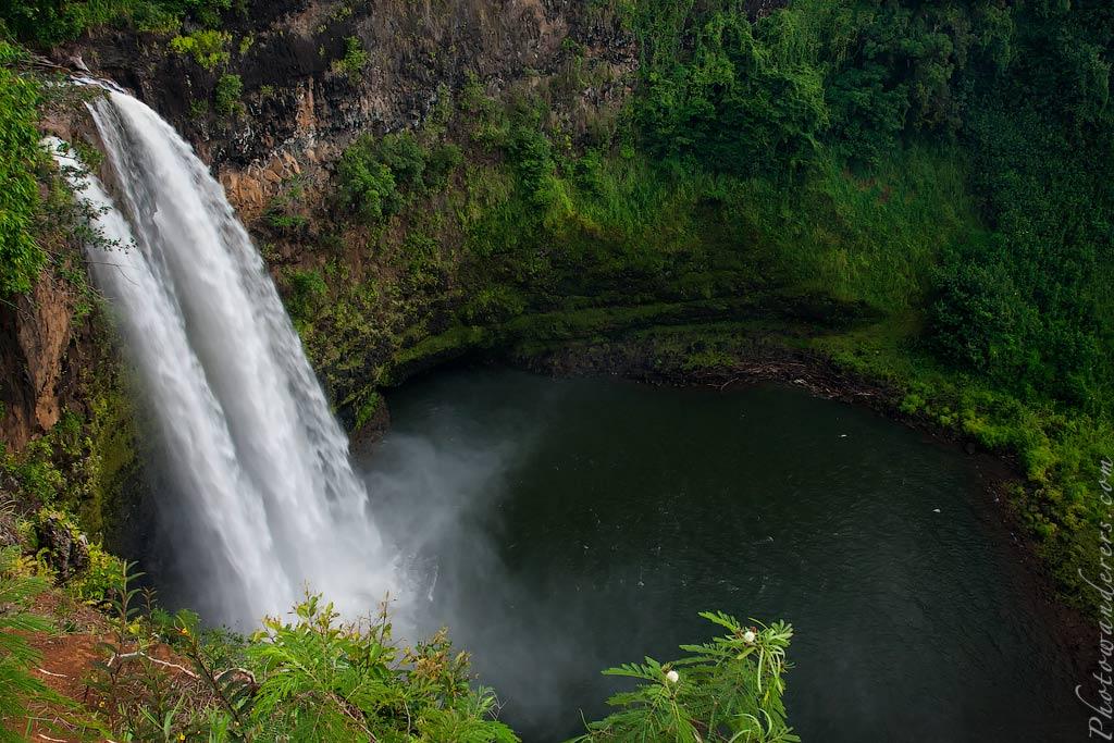 Водопад Ваилуа, Мир водопадов и каньонов | Wailua Falls, Kauai, Hawaii