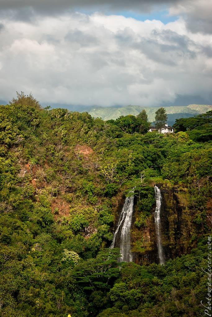 Водопад Опаека, Кауаи, Гавайи | Opaekaa Falls, Kauai, Hawaii