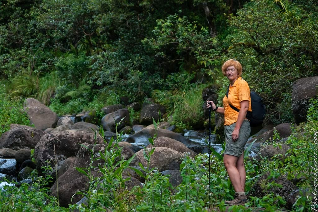 По дороге к кратеру Ваиалеале, Мир водопадов и каньонов | On the road to Waialeale crater, Kauai