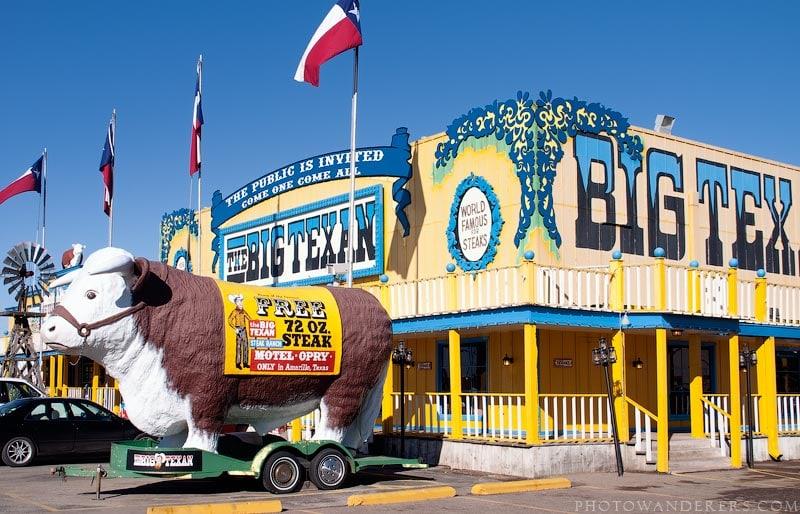 Ресторан, где подают 2-х килограммовый стейк (Big Texan Steak Ranch and Motel)