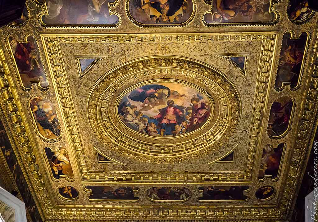 Святой Рох во славе, Тинторетто, потолок в зале Альберго, Братство Сан-Рокко, Венеция