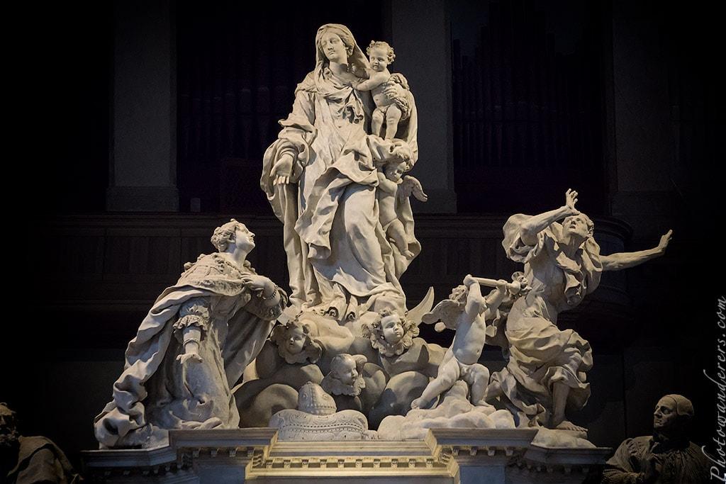 Алтарь, скульптор Джусто Лекур, Базилика Санта-Мария-делла-Салюте (Basilica di Santa Maria della Salute), Венеция