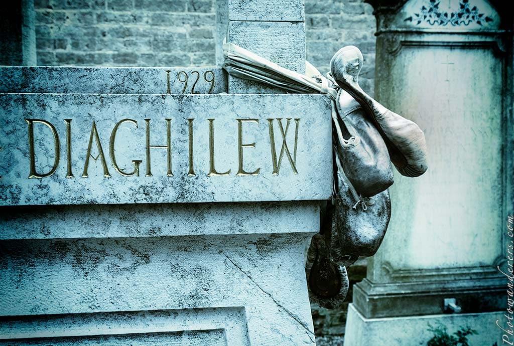 Надгробие Сергея Дягилева, Сан-Микеле, Венеция