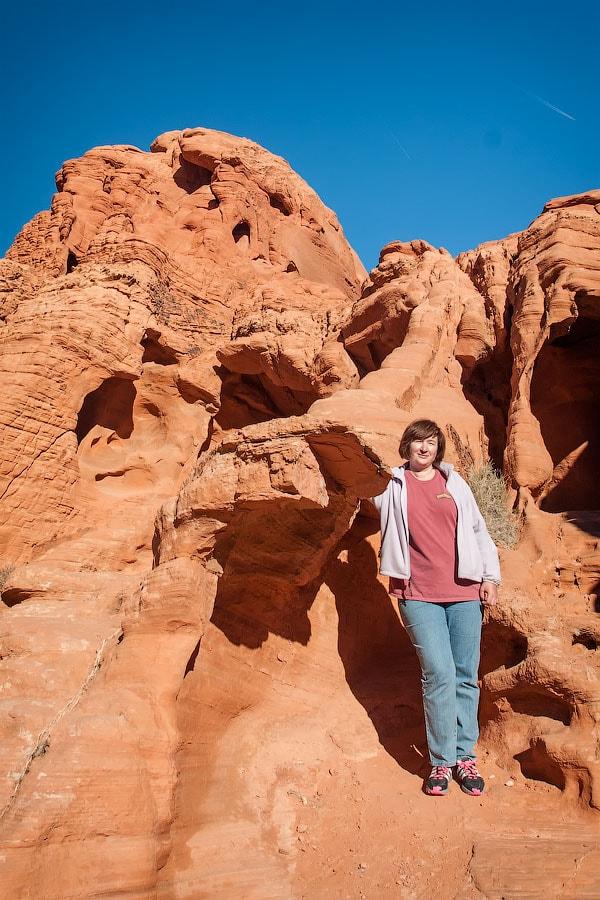 Обитель красного дракона в Долине Огня, Невада | Abode of the red dragon in the Valley of Fire, Nevada