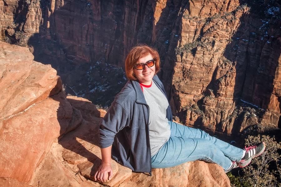 По-моему уже достаточно высоко, Национальный Парк Зион | It's highly enough I think, Zion National Park