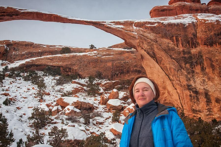 Возле самой длинной естественной арки, Национальный парк Арки, Юта | Near the longest natural arch, Arches National Park, Utah